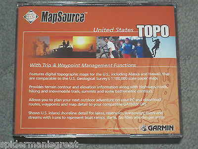 Garmin MapSource United States Topo CDs V3* includes Trip & waypoint management