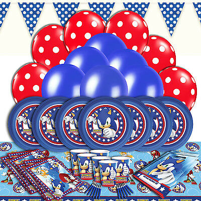 Sonic Complete Childrens Party Tableware Decorations Kits