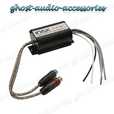 2 Channel RCA Line Input Output High to Low level converter adaptor lead CTLOC15