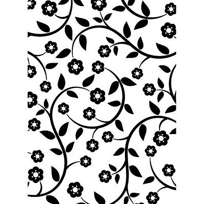 Darice Embossing Folder FLOWERS & VINES Leaves  Card Making A2 1218-115