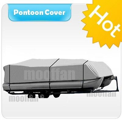 21' 22' 23' 24' ft Pontoon Boat Cover 600D Heavy Duty Waterproof Fabric MPT2H