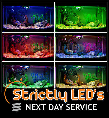 Rgb Colour Changing Air Stone Bubble Aquarium Fish Tank Lights Pond Lighting Uk