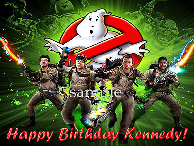 GHOSTBUSTERS Edible ICING Image Birthday CAKE Topper Party Supply FREE SHIPPING