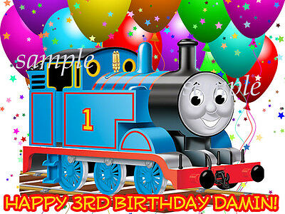 Thomas the TRAIN Edible ICING Image Birthday CAKE Topper Tank Engine