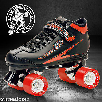 Roller Derby Viper M4, Mens, Boys Ladies Quad Speed Skates US Mens Sizes 5 - 12