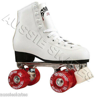 STARFIRE High White Ladies Girls Kids Roller Skates, Roller Derby Skates