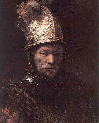 Art Oil painting Rembrandt - Man in a Golden Helmet canvas