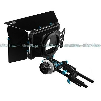 FOTGA DP3000 DSLR QR A/B Stops Follow Focus +Matte Box +15mm Rail Rod Baseplate
