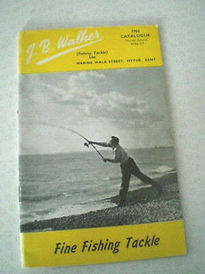 A Good Vintage J B Walker Advertising Fishing Catalogue For 1962