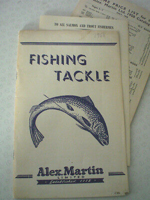 A Vintage Alex Martin Advertising Catalogue For 1958 With Price List