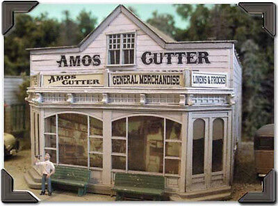 Bar Mills Amos Cutter's General Store Laser-Cut Wood Structure Kit #504 O Scale