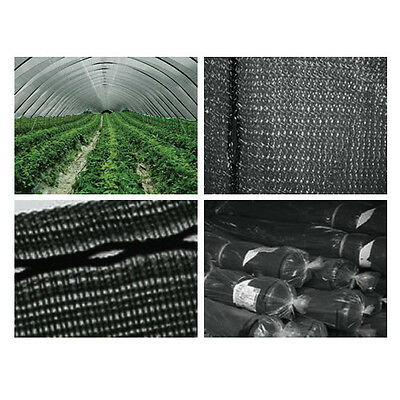 2M X 50M Black Anti Bird Pond Insect Hail Crop Protection Netting Knitted Fabric