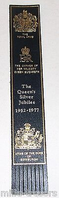 MARQUE PAGE Signet : THE QUEEN'S SILVER JUBILIEE 1952-1977 - The ROYAL ARMS
