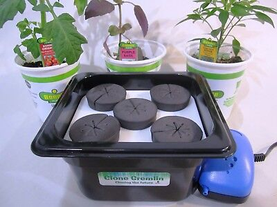 Cloner for plants, four site compact cloning machine