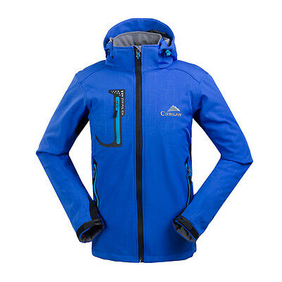 New Mens Soft Shell Waterproof Travel Camping Coat Hiking Outdoor Jacket Outwear