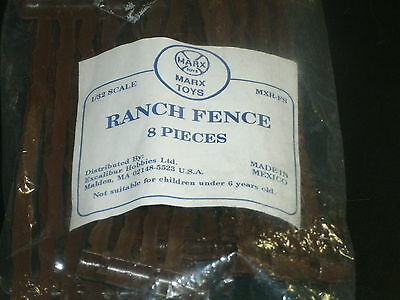 Marx Ranch Fence 8 Pieces Reiusse Set 1/32 Mm Scale Reissued Sealded In Bag