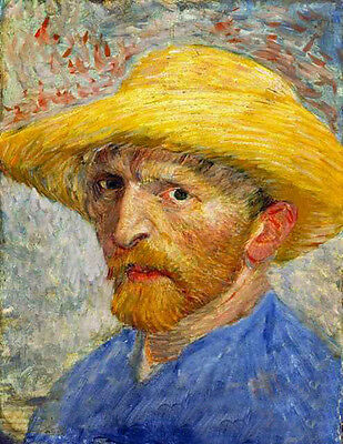 Dream-art Oil painting Vincent Van Gogh - Self-Portrait with Straw Hat February