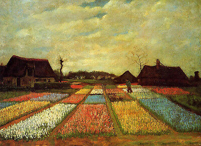9Oil painting Vincent Van Gogh - Bulb Fields sunset landscape canvas