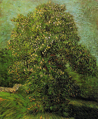 Oil painting Vincent Van Gogh - Landscape Chestnut Tree in Bloom canvas
