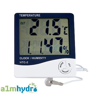 Digital Min Max Hygrometer Humidity And Temperature Probe Sensor Hydroponics