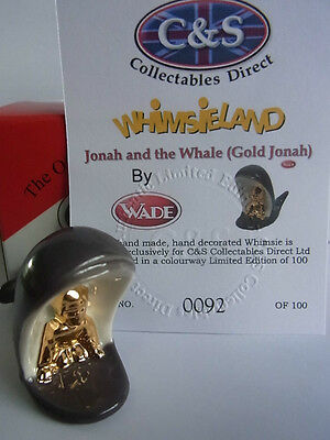 Wade Whimsie JONAH & THE WHALE - Gold Jonah LE 100 new release