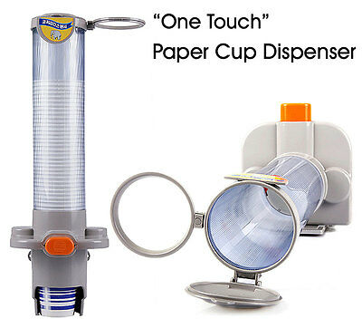 One Touch Paper Cup Dispenser Magnetic Attachment Cup Holder Dispensing 5.5-7oz