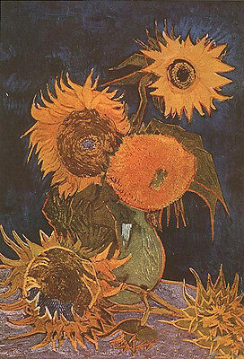 Oil painting Vincent Van Gogh - Vase with Five Sunflowers very beautiful