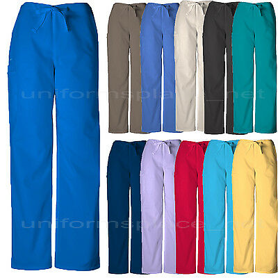 Cherokee Workwear Scrubs Pants Unisex Men, Women Drawstring Cargo Pants 4100