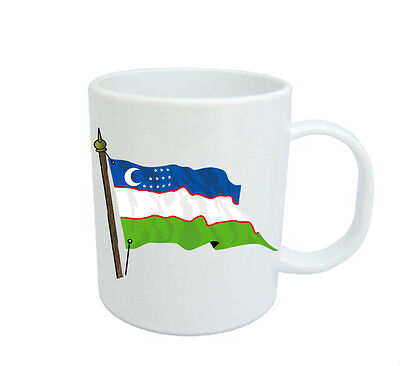 Uzbekistan  Flag  Coffee Mug Free Personalisation