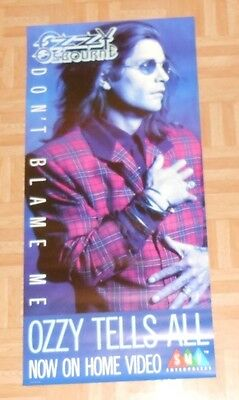 Ozzy Osbourne Don't Blame Me Tells All Promo Poster Black Sabbath 17x36