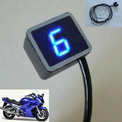 New Blue Universal Digital Gear Indicator for Motorcycle Display Shift Level