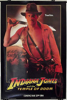 Indiana Jones And The Temple Of Doom - Original American One Sheet Movie Poster