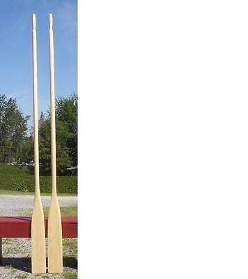 """BRAND NEW Pair WOODEN OARS 108"""" Paddles 9' SET Boat Canoe EXCELLENT TOP QUALITY"""