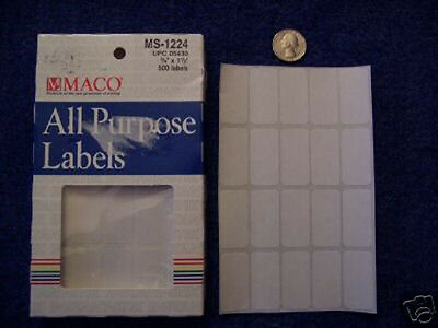 """2 Boxes of MS-1224 Removable Price Stickers 3/4"""" x 1 1/2"""""""
