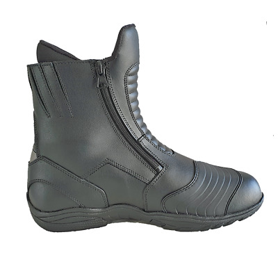 Mens Leather Waterproof Motorcycle Motorbike Boots New Touring Black Riding