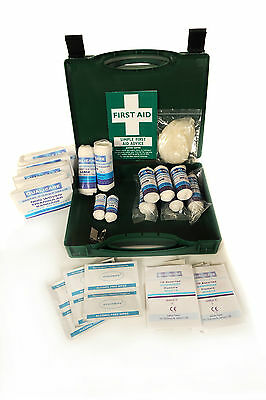 1-10 Person HSE Workplace First Aid Kit - FREE bag of 20 Blue plasters