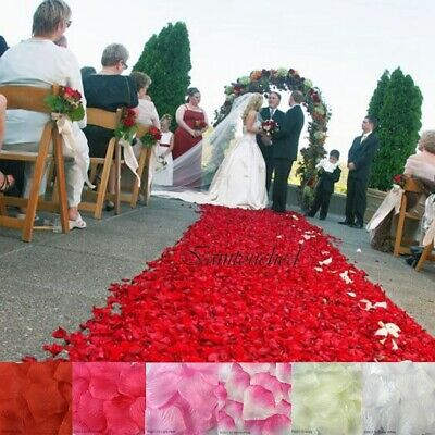 200 / 500PCS Flowers Silk Rose Petals Wedding Party Table Confetti Decoration