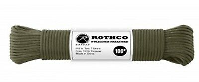 OD 30800 - 550LB 7 Strand 100% Polyester Type III Import Paracord Rope 100 Feet