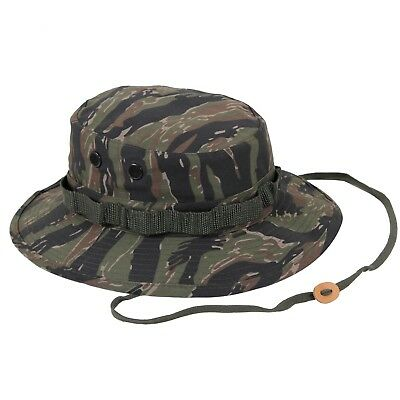 5d25fe6a1b9 Wide Brim Boonie Hat Tiger Stripe Camouflage Military Rothco 5816 Brand New