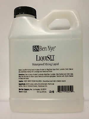 Ben Nye Liquiset Waterproof Mixing Liquid For Eyeshadows Shimmer Made In Usa