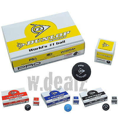 DUNLOP Squashbälle Bälle12er Set Box Pack Turnierball WORLDS #1 Ball