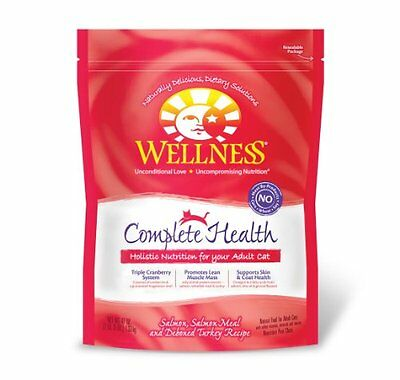 Wellness Dry Cat Food for Adult Cats  Complete Health Salmon Recipe  47-Ounce Ba