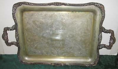 Antique Victorian WM Rogers Serving-ButlerTray #290 with Eagle and Star Marks