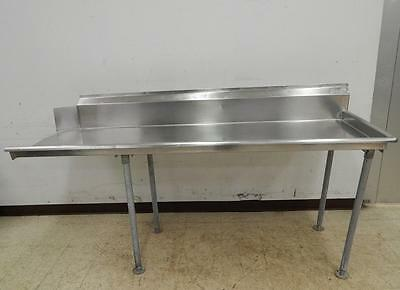 """Advance Tabco Right-Side Clean Dish Table, 84"""" Wide"""