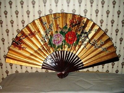 Antique Vintage Chinese Fan Wall Art Tiger Bob Tattoo Collection