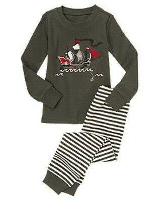 NWT Gymboree Ahoy Pirates! Cool Pirate Ship Gymmies Pajamas Sleep Set Boys 8 10