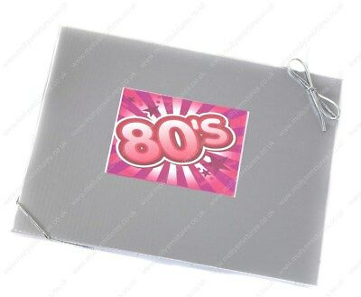 'SWEET IN THE 80's' - RETRO SILVER GIFT BOX OF SWEETS CELEBRATE EIGHTIES / 30TH