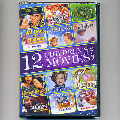 12 Children's movies, new DVDs All Dogs Go To Heaven, Tom Sawyer Sleeping Beauty