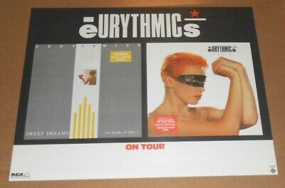 Eurythmics On Tour Sweet Dreams Promo 1984 Original Poster 22x27