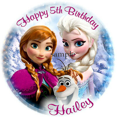 FROZEN Round Edible CAKE Decoration Image ICING Topper Personalized